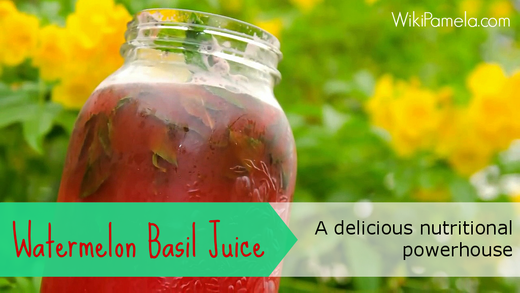 watermelon basil juice