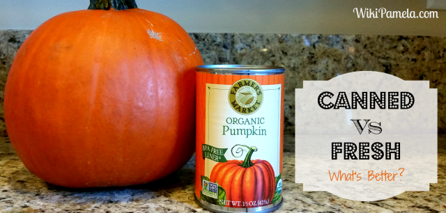 canned vs fresh pumpkin
